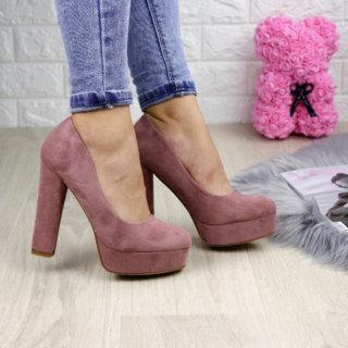 Туфлі жіночі Alana пудрові на підборах