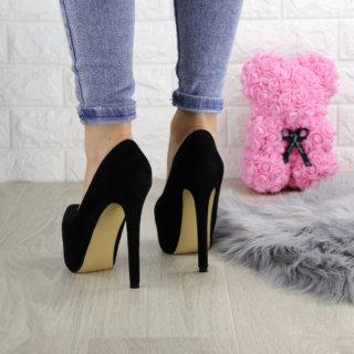 Туфлі жіночі на шпильці чорні Baby