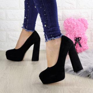 Туфлі жіночі чорні Night на високих підборах
