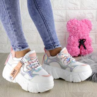 Жіночі стильні білі кросівки Sabella