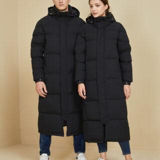 Довга куртка зима