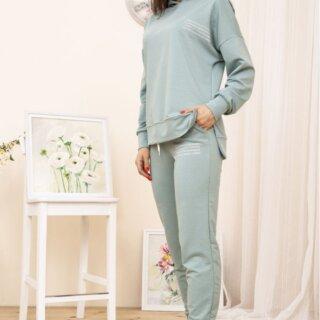 Спортивний костюм жіночий колір Оливковий