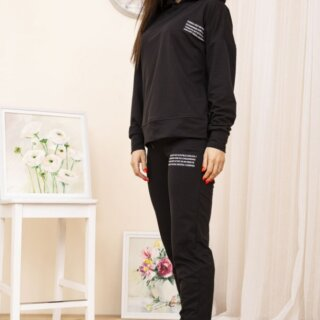 Спортивний костюм жіночий колір Чорний
